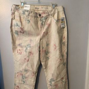 NWT style & co floral skinny jeans size 14